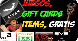 100% Real – Juegos, Gift Cards, Items, gratis [Steam, Dota2, TF2, Amazon, XBOX] y mas