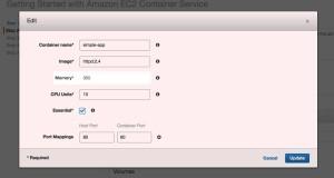 Amazon EC2 Container Service Deployment Walkthrough