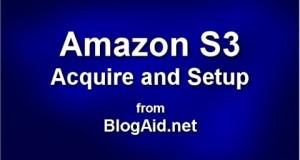 Setup Amazon S3 Account