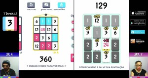 Threes [Vamos Jogar] (IOS / Android / Windows Phone / Amazon)
