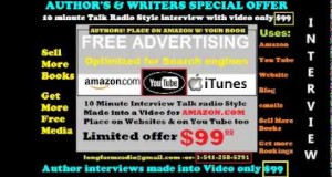 video's made for authors & authors den on Amazon OFFICIAL